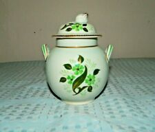 Adams Calyx Ware England Wyndham Pattern Handpainted Ginger Jar Canister/Lid