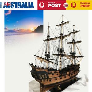 Black Pearl Ship Assembly Model Kits DIY Wooden Sailing Boat Decor Toy Gift AU