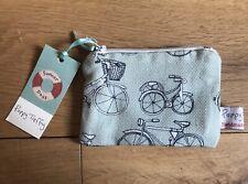 Poppy Treffry Bike Print Small Useful Purse. Made In Cornwall