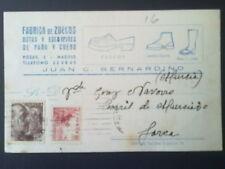 C1-CARTA TARJETA PUBLICITARIA MADRID  LORCA MURCIA 1948
