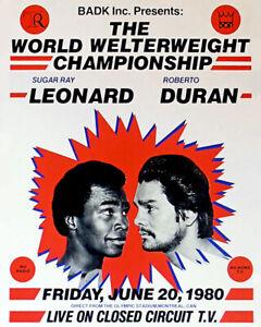 1980 Boxers ROBERTO DURAN vs SUGAR RAY LEONARD Glossy 8x10 Photo Poster Print