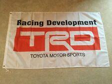 TRD Toyota racing developments Celica Supra Starlet garage workshop flag banner