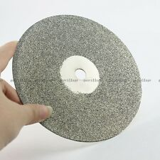 "6"" Grit 100# Diamond Coated Flat Lap Wheel For Lapidary Grinding Disc Disk Tool"