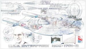 Star Trek USS Enterprise NCC-1701-D Cut Away Poster by AMT/Ertl