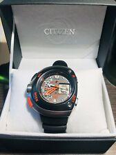 Citizen Aqualand Diver Ecodrive JV0020-21F Reloj para hombres con Bandas Negro y Naranja