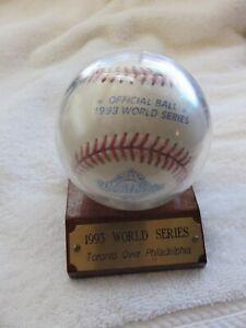 Rawlings Official 1993 World Series Baseball in Display