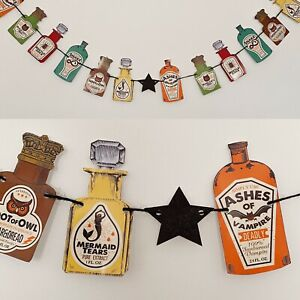 Halloween Potion Bottles Garland Witches Spooky Bunting Party Decoration