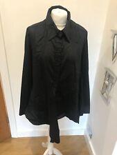 Gorgeous Women's Cora Kemperman Black Long Sleeve Tie Shirt Size XL Worn Once