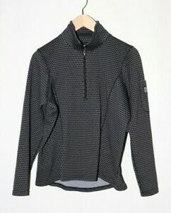 Kerrits Riding Pullover 1/4 Zip Long Sleeve Midweight size M #D41