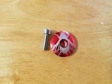 """Fly Bicycle Headset Top Cap 1 1/8"""" Red Stem Cap Bolt"""