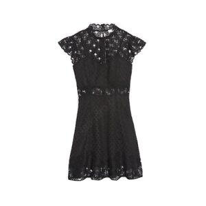 Sandro Black Lace Dress Size 1  (XS/S)