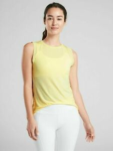 ATHLETA Cloudlight Hybrid Tank Top S SMALL Pineapple Whip Yellow | Casual Shirt