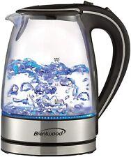 Brentwood KT-1900BK 1.7L Cordless Glass Electric Kettle, Black