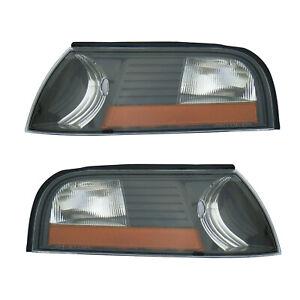 Parking Corner Signal Lights Pair Set for 03-04 Mercury Marauder (Black)