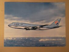 KOREAN AIR-BOEING 747-AIRLINE ISSUE POSTCARD UNPOSTED