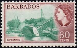 Barbados 1964 QEII Pictorial 60c Careenage SG.318 Mint (Hinged)  Wmk Crown CA