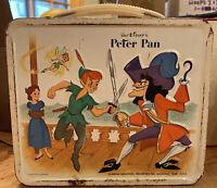 1969 Vintage Walt Disney's Peter Pan and Capt Hook Aladdin Metal Lunch Box