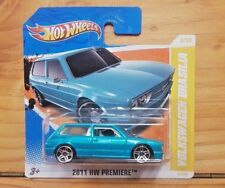 HOT WHEELS 2011 HW PREMIERE 8/50 VOLKSWAGEN BRASILIA TEAL SHORT CARD8/244 (A+/A)