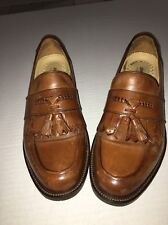 Johnston & Murphy Loafers With Tassels Size 9.5 Brown Signature Series XC4