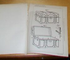 In viaggio BAULI, scatole brevetto. lippold, Dresda, Germania. 1900