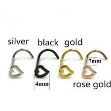 60pcs For Women's Crystal Nose Rings Bone Stud Stainless Steel Body Piercing US