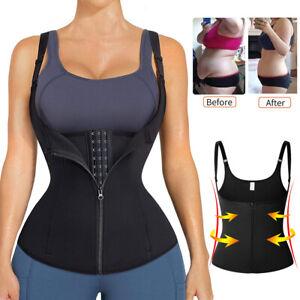 Women Sauna Vest Waist Cincher Shapewear Tummy Control Underbust Corset Tank Top