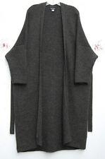 Eskandar Bergdorf Goodman GREEN Heavy Weight Handloomed Baby Alpaca Sweater Coat