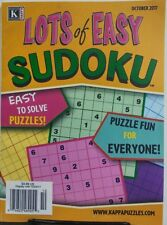 Kappa Lots of Easy Sudoku October 2017 Easy to Solve Puzzles FREE SHIPPING sb