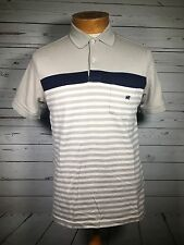 Patprimo Men's Multicolor Striped Polo Rugby Short Sleeve Sz S Small O
