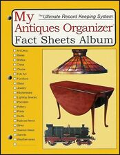 ANTIQUES ORGANIZER FACT SHEETS BOOK for documenting your collection of antiques