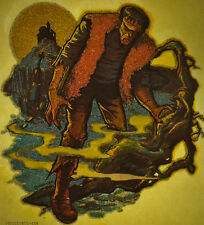 glitter frankenstein scifi fantasy 70s 80s vintage retro tshirt print, NOS