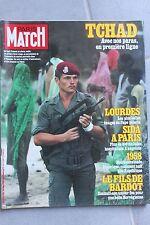 paris match n°1787 tchad le pape sylvia kristel jacques dutronc hardy