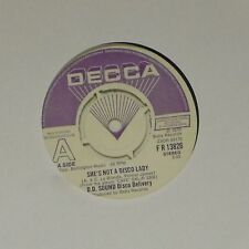 """D.D. SOUND DISCO DELIVERY 'SHE'S NOT A DISCO LADY' UK 7"""" SINGLE DEMO COPY"""