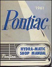 1961 Pontiac Hydra Matic Transmission Repair Manual 61