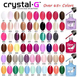 CRYSTAL-G PRO CLASSIC TOP BASE UV LED SOAK OFF GEL NAIL POLISH VARNISH