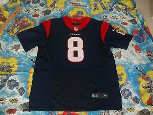 NFL Houston Texans MATT SCHAUB Nike On Field Authentic Sewn Jersey Men's size 48