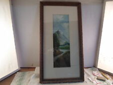 Art Deco picture frame, Mountain scene,  10 by 20 inches    # 871
