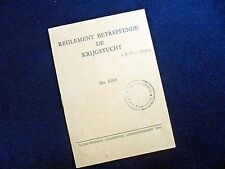 REGLEMENT BETREFFENDE DE KRIJGSTUCHT~NO. 3103~1946