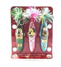 KOOKY KLICKER PENS 3Pk DISNEYLAND PARK HOLIDAY Series1 MICKEY MINNIE MOUSE PLUTO