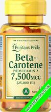 PURITANS PRIDE BETA-CAROTENE 25,000 IU  250 softgels FAST DISPATCH 223