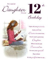 12th DAUGHTER BIRTHDAY CARD AGE 12 ~ QUALITY CARD WITH BEAUTIFUL VERSE BY IC&G