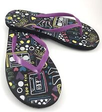 Graphics Womens Flip Flop Sandals Size US 9.5 Medium Muti Color  Pre Owned-7