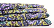 Paisley Print 100% Pure Cotton Fabric Indian Sewing Apparel Dress By The Yard