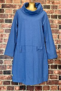 LOLE Cowl Neck Soft Knit Dress Long Sleeves Travel Friendly UPF 50+ Size L