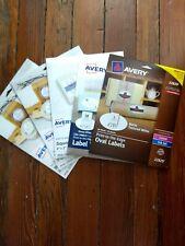5 New Avery Blank Label Packs 746 Labels Laser Inkjet Oval Square Variety