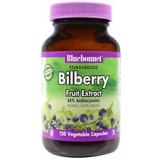 Bluebonnet Nutrition  Standardized Bilberry Fruit Extract  120 Veggie Caps