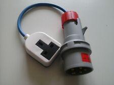 16amp 3-phase (5-pin)plug to 13amp 240v mains converter