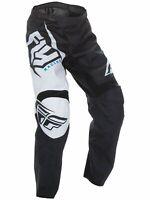 Fly 2017 F-16 MX Motocross Youth Enduro Off Road Pants Trouser - Black/White