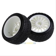 2PCS Tarmac Wheels White Tires for HPI Racing WR8 Rally Off Road Buggy 1:10