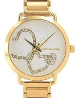 Michael Kors Portia Crystals Hearts Gold Tone Fashion Women's Watch MK3824
